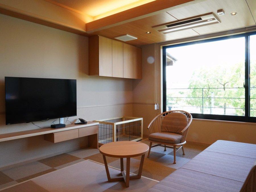 新☆ペット温泉露天風呂付客室2階「このん」リビング付・禁煙