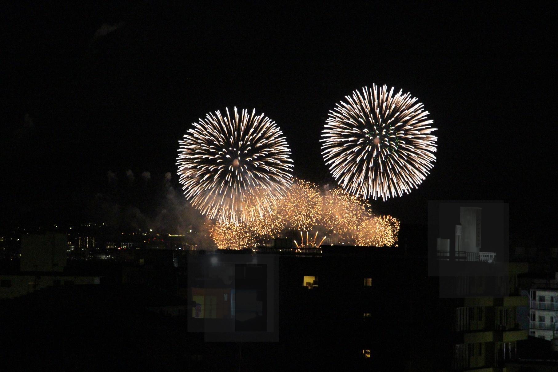 きくのやからびわ湖の花火が見えました~(^^♪