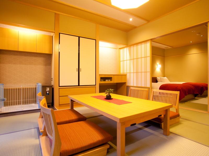ペット・露天風呂付和室「ことね」(12.5畳+ベッドルーム)