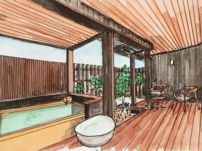 ペット専用特別客室■和洋室■温泉露天風呂+ペット風呂+テラス■